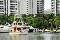 Marina with luxury yachts Royalty Free Stock Photography