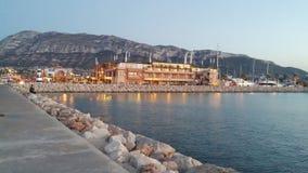 Marina méditerranéenne de ville Image libre de droits