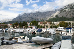 Marina in Makarska,Croatia Royalty Free Stock Photo