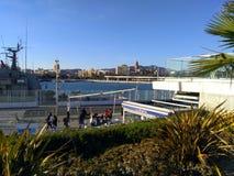 Marina Malaga. View of marina Malaga city 2017 Royalty Free Stock Photo
