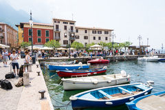 Marina of Malcesine at Lake Garda Stock Photo