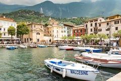 Marina of Malcesine at Lake Garda Royalty Free Stock Photos