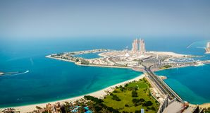 Marina Mall ö i Abu Dhabi arkivbilder