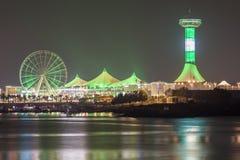 Marina Mall in Abu Dhabi nachts Stockfotografie