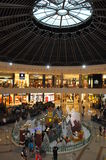 Marina Mall Dubai in Winter period during season greetings. The main atrium of Marina mall with the dome and its radial metallic structure while at ground floor Stock Photography