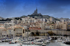 Marina in Marseille,France Royalty Free Stock Photo