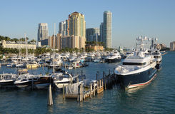 Marina in Miami Beach, Florida Stock Images
