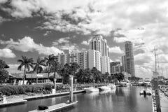 Marina in Miami Beach, Florida, USA Royalty Free Stock Photography