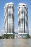 Marina miasto Góruje w Bangkok Zdjęcie Stock
