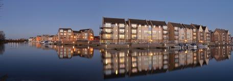 Marina mieszkania Eynesbury i domy Obraz Stock