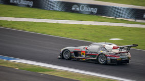 MARINA MILITARE-SPORT SLS del VINCITORE nelle corse GT300 a Burirum, Thaila del VINCITORE Fotografia Stock Libera da Diritti