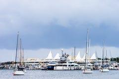 Marina miraż na Złocistym wybrzeżu zdjęcie royalty free