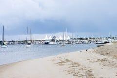 Marina miraż na Złocistym wybrzeżu zdjęcia royalty free