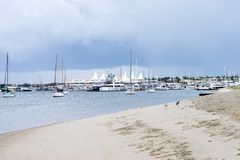 Marina Mirage på Goldet Coast royaltyfria foton