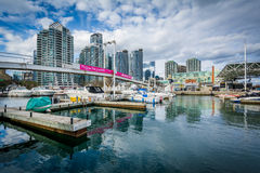 Marina and modern buildings at the Harbourfront, in Toronto, Ont. Ario Stock Photo