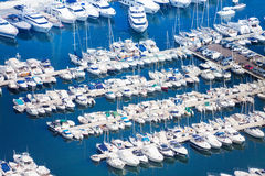 Marina in Monaco on Mediterranean sea Stock Image