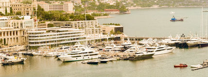 The marina in Monaco Stock Image