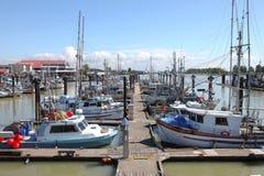Marina & Moored Fishing Boats In Richmond BC Royalty Free Stock Image