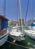 Marina with moored yachts, Eilat Royalty Free Stock Images