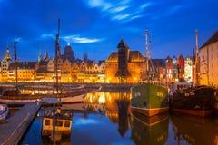 Marina at Motlawa river in old town of Gdansk Stock Photo