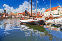 Marina at Motlawa river in old town of Gdansk Stock Image