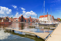 Marina at Motlawa river in old town of Gdansk Stock Photography