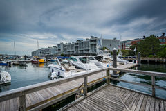 Marina na Charles rzece w Charlestown, Boston, Massachuset Obraz Stock