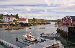 Marina na Norweskim fjord Zdjęcia Royalty Free