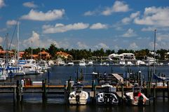 Marina at Naples Bay Royalty Free Stock Images