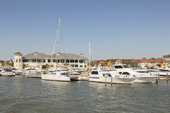 Marina in Naples, Florida. Yachts and boats at the marina in Naples, Florida, United States Stock Photography