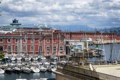 Marina Naples, Italien royaltyfri foto