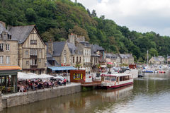 The Marina near Dinan, Brittany, France. Stock Images