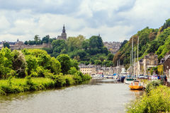 The Marina near Dinan, Brittany, France. Royalty Free Stock Images