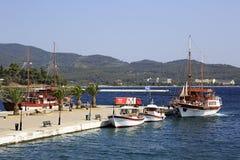 Marina in the Neos Marmaras Royalty Free Stock Photos