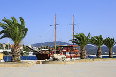 Marina in the Neos Marmaras Stock Images