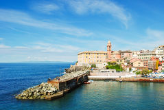 Marina of Nervi, a district of Genoa. The marina of Nervi, the most eastern district of Genoa Royalty Free Stock Photos