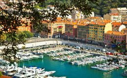 Marina in Nice Stock Images