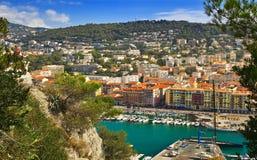 Marina in Nice Royalty Free Stock Photos