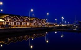 Marina by Night Stock Photography
