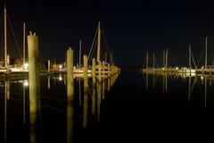 Marina by night Stock Photo