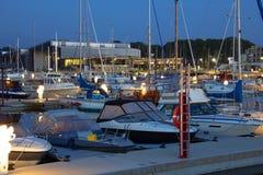The marina at night Royalty Free Stock Photography