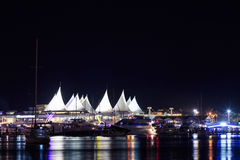Marina at night royalty free stock image
