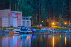 Marina at night Stock Photography