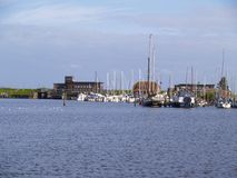 Marina at the north sea Stock Image