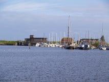 Marina at the north sea Stock Image