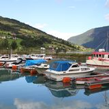 Marina in Norway Stock Image