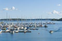 Marina Nynashamn archipelago town Stock Image