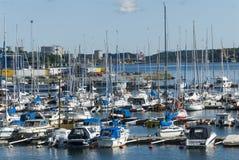 Marina Nynashamn archipelago town Royalty Free Stock Images