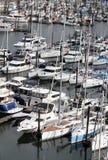 Marina occupée de bateau de plaisance Photographie stock