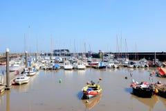 Marina och hamn, Bridlington, Yorkshire Arkivbild